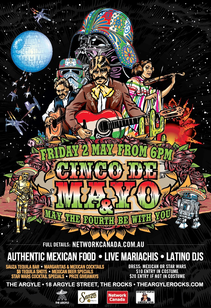 Network Canada Cinco De Mayo & May the 4th be with you 2013 Sydney Australia