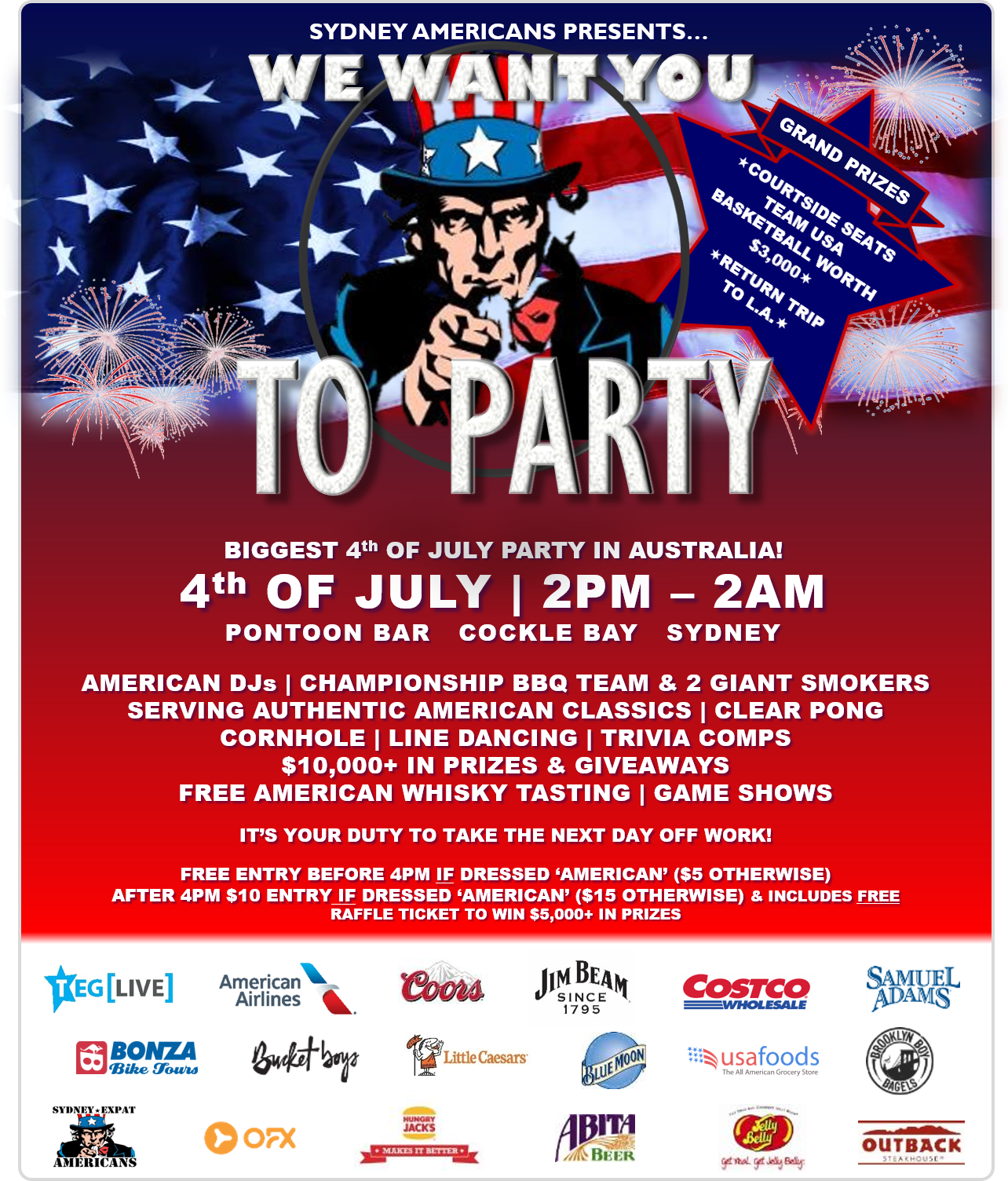 2e02d2992 Biggest American Indpendence Day Party in Australia