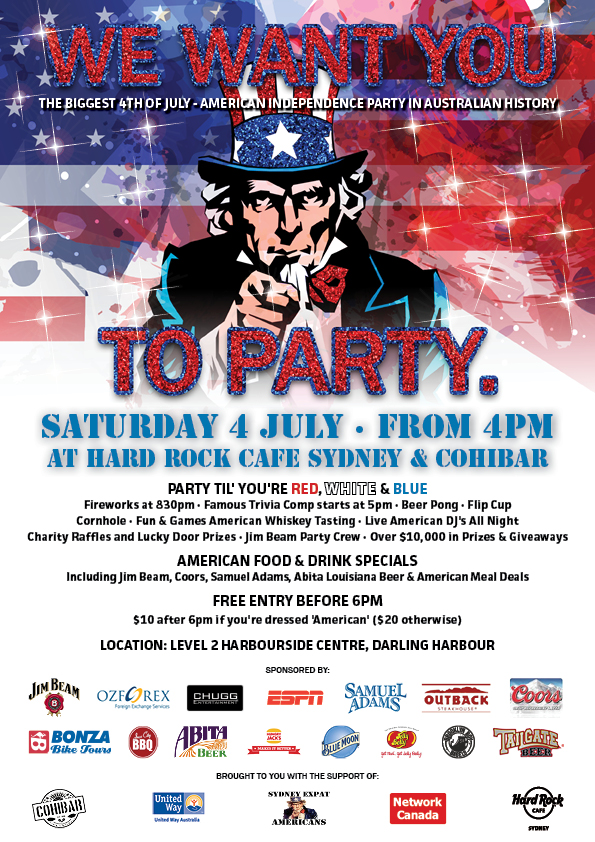 4th of July 2015 American Independence Day 2015 in Sydney Australia